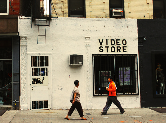 the video rental down the block that boasts a collection of every movie your heart desires
